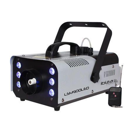 MAQUINA DE HUMO + EFECTO LED IBIZA LIGHT LSM900LED DMX 900W 6xRGB LEDs