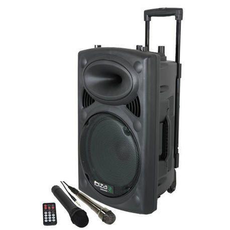 EQUIPO DE SONIDO PORTATIL A BATERIAS IBIZA SOUND PORT8VHF-BT USB/REC/VOX/BLUETOOTH 1xMIC.INALAMBRICO+1xMIC.CABLEADO