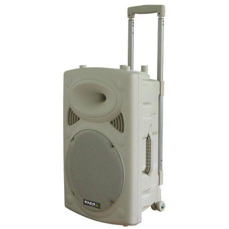 """EQUIPO DE SONIDO PORTATIL IBIZA SOUND PORT15VHF-BT-WH 15"""" USB/MP3/BLUETOOTH/REC/VOX 2xMICROS INALAMBRICOS"""