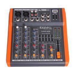 MESA DE MEZCLAS IBIZA SOUND MX401 CON REPRODUCTOR USB