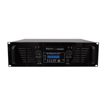 ETAPA DE POTENCIA IBIZA SOUND AMP1000USB-BT 2x800W USB/BLUETOOTH