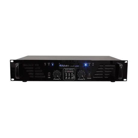 ETAPA DE POTENCIA IBIZA SOUND AMP300USB-BT 2x240W USB/BLUETOOTH