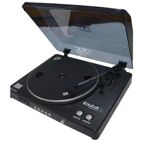 TOCADISCOS IBIZA SOUND LP300 USB/SD CON GRABACION