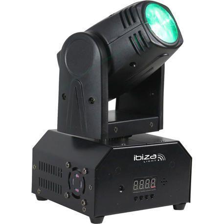 IBIZA LIGHT LMH250-RC CABEZA MOVIL LED BEAM 10W RGBW DMX CON MANDO