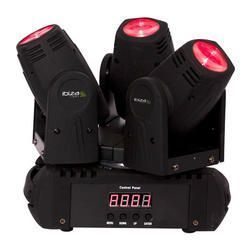IBIZA LIGHT LMH250LED-TRI CABEZA MOVIL LED TRIPLE RGBW 3x10W