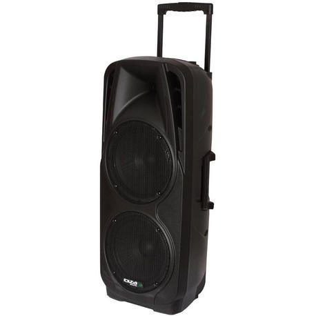 """IBIZA SOUND PORT225VHF-BT ALTAVOZ PORTATIL A BATERIAS 2x10"""" USB/SD/BT/VOX/2xVHF MICROS"""
