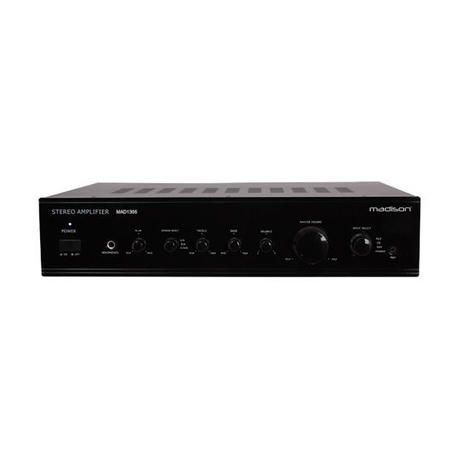 MADISON MAD1305BK STEREO HIFI AMPLIFIER 2x100W-RMS 4-OHMS