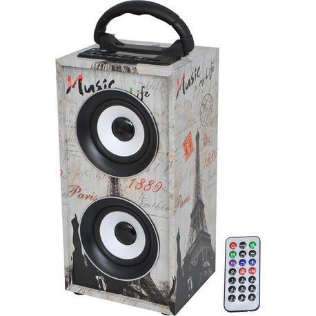 LTC AUDIO FREESOUND-PARIS ALTAVOZ PORTATIL USB/SD/AUX/BLUETOOTH/FM