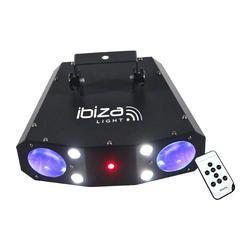 IBIZA LIGHT COMBO-3IN1 EFECTO LED MOONFLOWER-STROBO-LASER