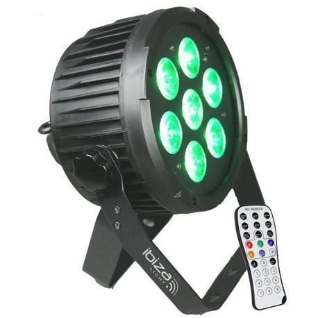 IBIZA LIGHT PARLED712IR FOCO LED DMX RGBWA-UV 7x12W
