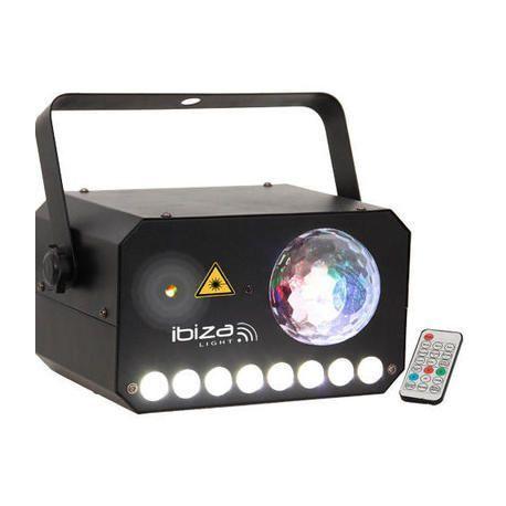 IBIZA LIGHT COMBI-LAS EFECTO LED ASTRO-STROBO-LASER