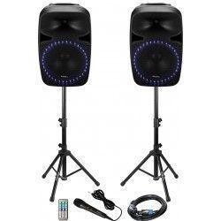 IBIZA SOUND PKG15A-SET EQUIPO DE SONIDO INALAMBRICO FM/USB/SD/BLUETOOTH 2x500W