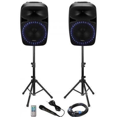 IBIZA SOUND PKG12A-SET EQUIPO DE SONIDO INALAMBRICO FM/USB/SD/BLUETOOTH 2x400W
