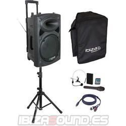 IBIZA SOUND PORT15VHF-BT PACK-1 ALTAVOZ PORTATIL A BATERIAS + TRIPODE + CABLE
