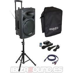 IBIZA SOUND PORT10VHF-BT PACK-1 ALTAVOZ PORTATIL A BATERIAS + TRIPODE + CABLE