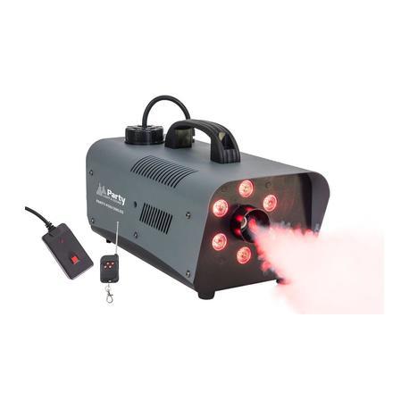 PARTY PARTY-FOG1200LED MAQUINA DE HUMO DE 1200W DMX CON 6 LED RGB