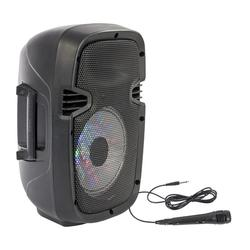 "PARTY PARTY-7LED ALTAVOZ PORTATIL A BATERIAS 8"" 150W-RMS USB/BT/FM/MICRO"