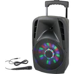 "PARTY PARTY-8LED ALTAVOZ PORTATIL A BATERIAS 8"" 150W-RMS USB/BT/FM/MICRO"