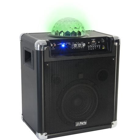 "PARTY PARTY-KUBE300VHF ALTAVOZ PORTATIL A BATERIAS 8"" 150W-RMS USB/BT/EFECTO LED"