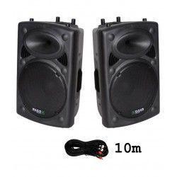 2 x IBIZA SOUND SLK10A + CABLE 10M