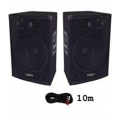 2 x IBIZA SOUND DISCO15AMP + CABLE 10M