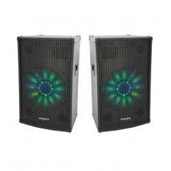 2 x IBIZA SOUND X-LED10