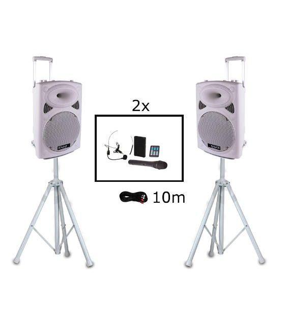 Sistema de audio port/átil aut/ónomo Ibiza Sound PORT12UHF-BT-WH