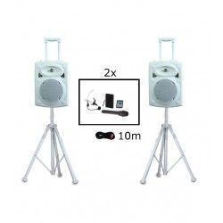 IBIZA SOUND PORT8UHF-BT-WH ALTAVOZ PORTATIL A BATERIAS USB/VOX/BLUETOOTH/UHF MIC