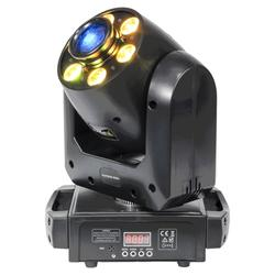 CABEZA MOVIL SPOT/WASH LED IBIZA LIGHT 6x12W RGBWA-UV 2-EN-1