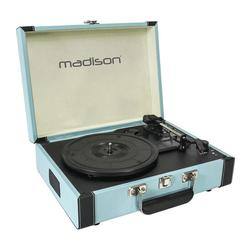 TOCADISCOS MADISON MAD-RETROCASE-BLU USB/SD/BT/RECORD AZUL