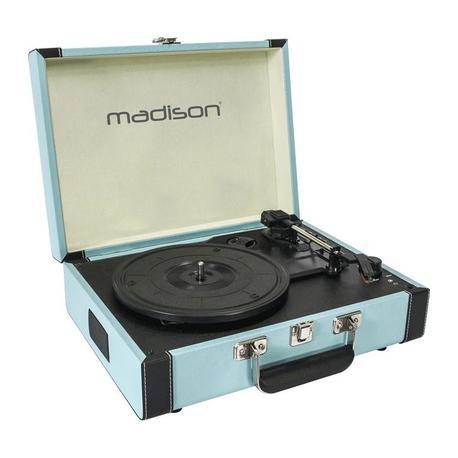 TOCADISCOS MADISON MAD-RETROCASE-BLU USB/SD/BT/RECORD AZUL
