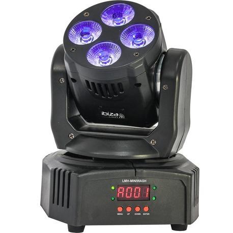 IBIZA LIGHT LMH-MINIWASH CABEZA MOVIL WASH DMX 4x18W RGBWA-UV