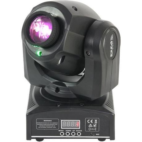 IBIZA LIGHT PLUTON10-LZR CABEZA MOVIL LED SPOT 12W CON LASER VERDE 30mW