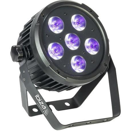 IBIZA LIGHT PARLED606UV FOCO LED LUZ NEGRA DMX 6x6W UV