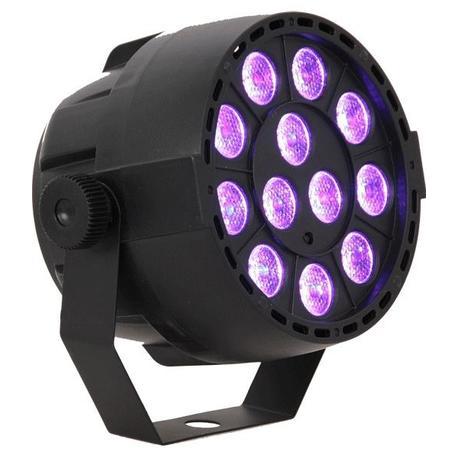IBIZA LIGHT PAR-MINI-UV FOCO LUZ NEGRA LED 12x2W