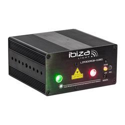 IBIZA LIGHT LZR300RGB-GOBO LASER RGB CON 12 GOBOS 300mW