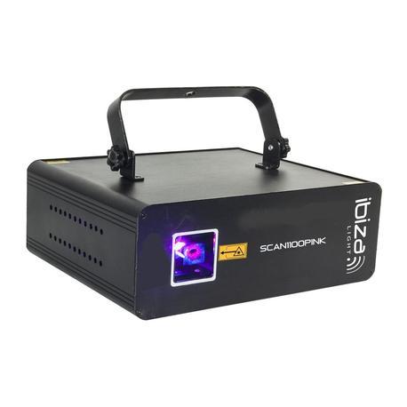 IBIZA LIGHT SCAN1100PINK LASER ROSA DMX 1100mW