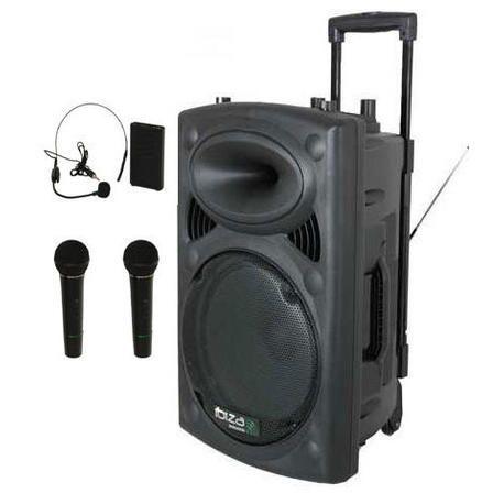 IBIZA SOUND PORT15VHF-BT-HAND 3xMIC-VHF 4xCABLES