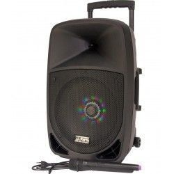"PARTY PARTY-12LED ALTAVOZ PORTATIL A BATERIAS 12"" 350W-RMS USB/BT/FM/MICRO VHF"