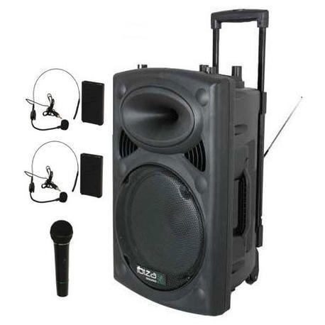 IBIZA SOUND PORT12VHF-BT-HEAD 3xMIC-VHF 4xCABLES