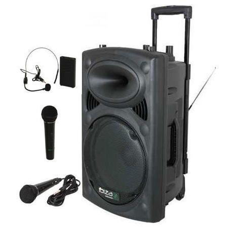 NUEVO IBIZA SOUND PORT8VHF-BT-MIX 2xMIC-VHF 4xCABLES