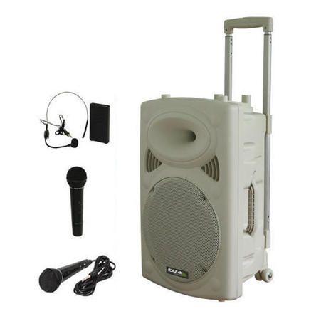 NUEVO IBIZA SOUND PORT10VHF-MIX-WH 2xMIC-VHF 4xCABLES