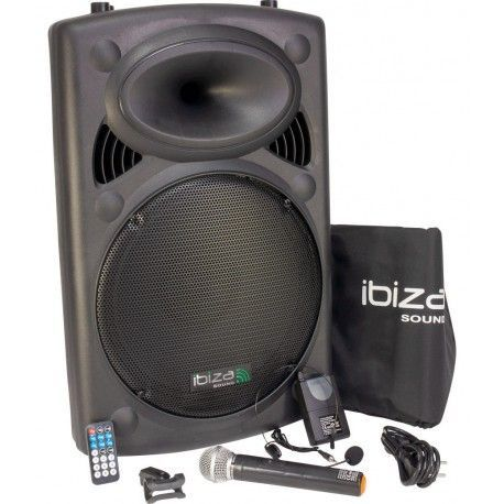 IBIZA SOUND PORT15VHF-BT ALTAVOZ PORTATIL A BATERIAS