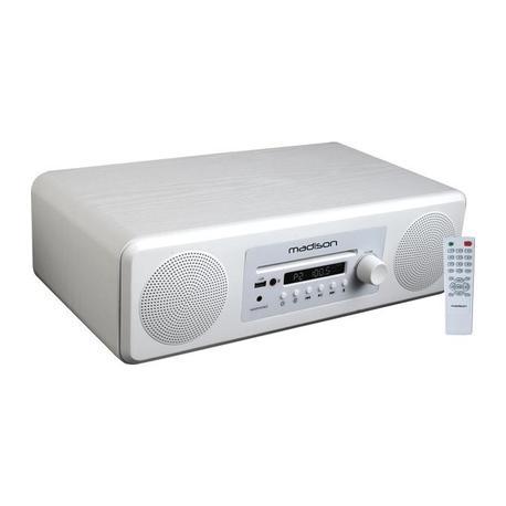 MADISON MAD-MELODY-WH ALTAVOZ HI-FI ACTIVO BLUETOOTH/FM/CD/USB