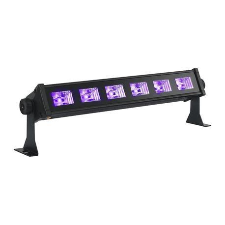 IBIZA LIGHT LED-UVBAR6 BARRA LUZ NEGRA LED 6x3W