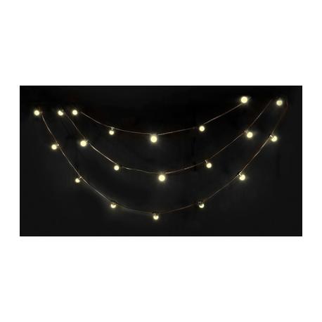 IBIZA LIGHT LEDSTRING-WH GUIRNALDA LED 20xLED BLANCO CALIDO IP44 10m