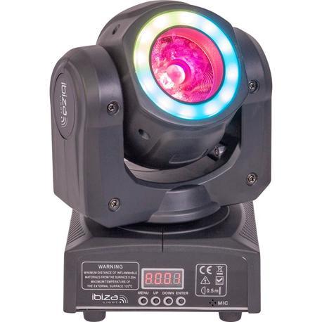 IBIZA LIGHT MHBEAM40-FX CABEZA MOVIL LED WASH/BEAM 40W DMX