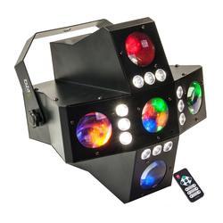 IBIZA LIGHT CROSS-GOBOFX EFECTO LED RGBA DMX GOBOS/FLASH