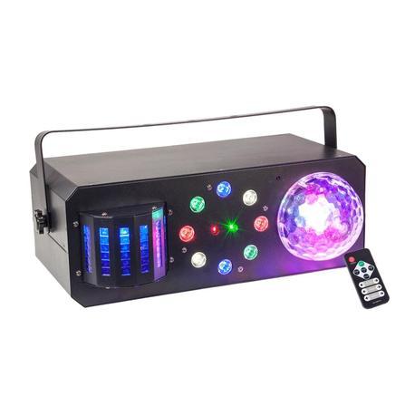 IBIZA LIGHT COMBI-FX1 EFECTO LED ESTROBOSCOPIO-ASTRO-DERBY-LASER