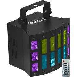 IBIZA LIGHT COMBI-STUV EFECTO LED DMX DERBY/ESTROBOSCOPIO UV-BLANCO